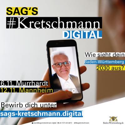 Sags Kretschmann digital - Bild Ministerpräsident Kretschmann Mannheim